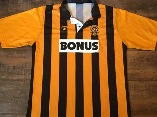 1990 1992 Hull City Home Football Shirt Large